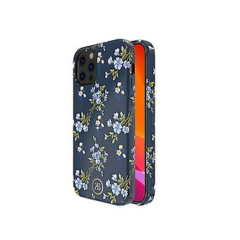 iPhone 12 and iPhone 12 Pro Case Blue Flowers