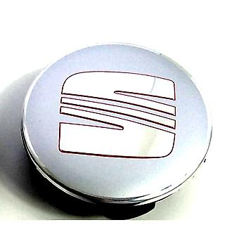 Chrome-Red Seat Car Wheel Center Caps Hub Cover 54mm 1 PCS For Arosa Ibiza Leon Altea Exeo Cordoba