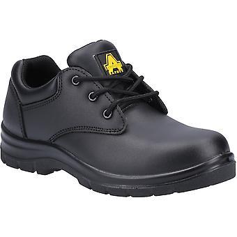 Amblers سلامة النساء AS715C الجلود الدانتيل حتى أحذية السلامة