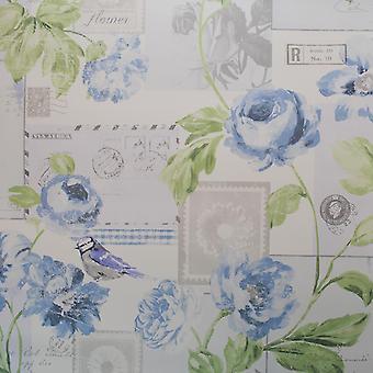 Galerie Postcard Floral Blue