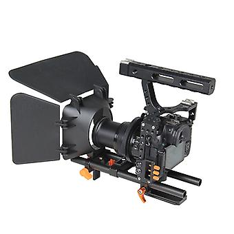 YELANGU YLG1105A A7 Cage Set Include Video Camera Cage Stabilizer / Follow Focus / Matte Box for Sony A7S / A7 / A7R / A7RII /  A7SII / Panasonic Lumi