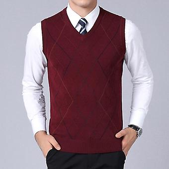 Sweaters, Pullover Vest Slim Fit Jumpers Knitwear, Autumn Style Casual Clothes