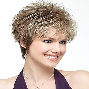 Women's Wig Realistic Fluffy Short Curly White Wig