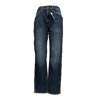 Levi's Women's Straight Jeans 34x32 العمل ارتداء 5 جيب القطن الأزرق