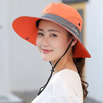 Safari Sun Hats, Summer Wide Brim Uv Upf Ponytail Outdoor Hunting Fishing