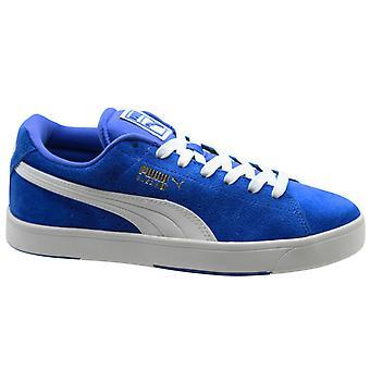Puma Suede S JR Blue White Leather Unisex Обувь младших тренеров 359450 03 B12E