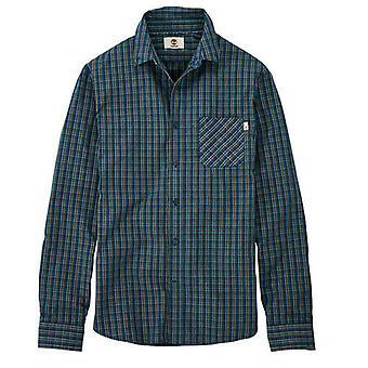 Timberland Poplin Langarm Button Up grün karierten Herren Shirt A1AZF C14 UA76