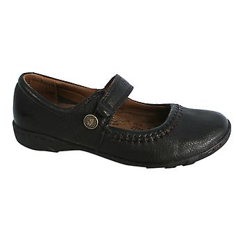 Hush Puppies Gyneth Womens Flat Mary Janes Scarpe in pelle marrone H27071020 B46D