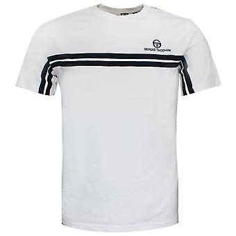 Sergio Tacchini Mens Carey T-Shirt Piping Top White 38143 100