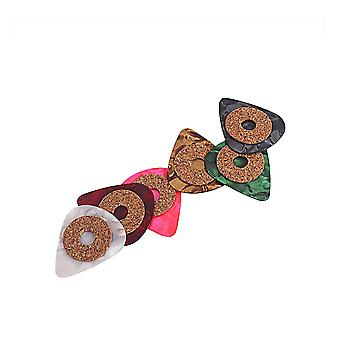 6PCS Grip Cork Tape and Celluloid Picks Up 0.5mm Thickness for guitar