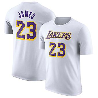 Los Angeles Lakers No.23 Lebron James Short T-shirt Sports Tops 3DX044