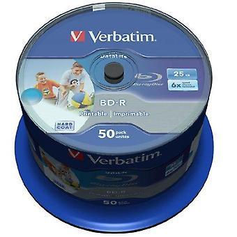 Verbatim 43812 25gb bd-r prázdný blu-ray disk - prázdné blu-ray disky (bd-r, 25gb, 405nm, vřeteno, 50 pi