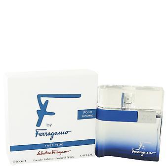 F vapaa-aikaa by Salvatore Ferragamo Eau De Toilette Spray 3,4 oz/100 ml (miehet)