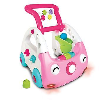 Infantino sensory 3-in-1  car pink