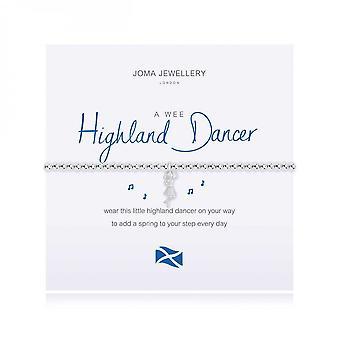 """ג'ומה תכשיטים רקדנית היילנד קטנה כסף 17.5 ס""""מ מתיחה צמיד 4005"""