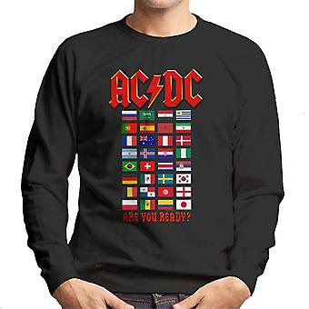 AC/DC Country Flags Are You Ready Men's Sweatshirt