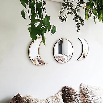 Moon Phase Mirror Wall Stickers Bedroom Acrylic Mirror