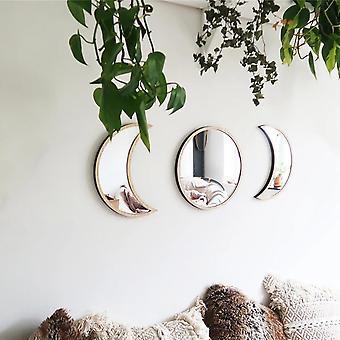 Kuu vaihe peili seinä tarrat makuuhuone akryyli peili