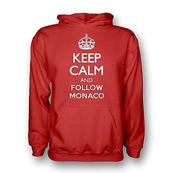 Hålla lugn och följa Monaco Hoody (röd)