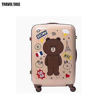 Travel Tale Spinner Karhu Käsimatkatavarat, söpö matkalaukku matkustamiseen