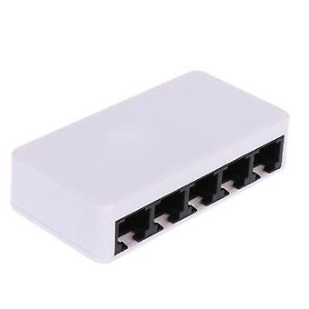5 Ports Fast Ethernet Hub (blanc)