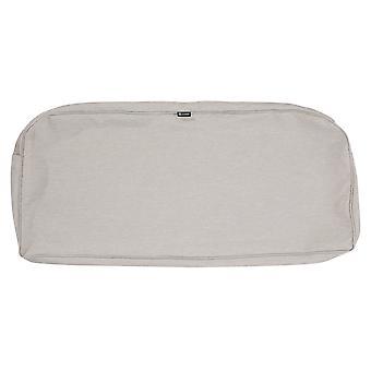 "Accesorios clásicos Montlake Fadesafe Patio Bench/Settee Contoured Cushion Slip Cover - 3"" Thick - Heather Grey, 41""W X 18""D X 3""T (60-083-011001-Rt)"