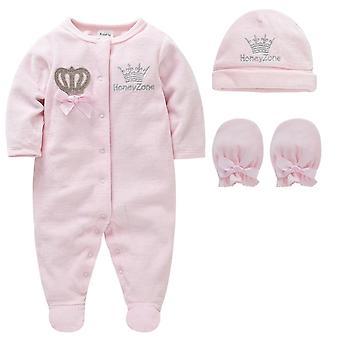 طفل Pijamas مليئة قفازات القبعات القطن تنفس لينة النعال Pijamas