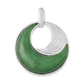 TJC Grønn Jade Moon Anheng for kvinner i sølv gave til henne