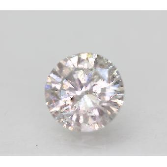 Sertifioitu 0,85 karat G SI3 pyöreä brilliant parannettu luonnollinen löysä timantti 6,14mm
