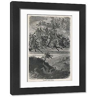 Odins Dziki Gon. Duże zdjęcie w ramce. ODIN Odin's dzikie polowanie.