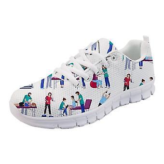 Women Cute Cartoon Nurses Printed Women's Sneakers