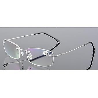 Ultralight Tr90 Memory Titanium Rimless Reading Glasses