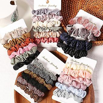 Scrunchies Hair Ring Candy Color Hair Ties Accesorii