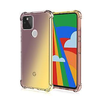 Shockproof TPU case for Google Pixel 4A - Black&Golden