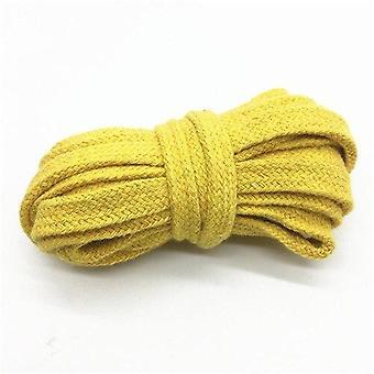 Cuerda de algodón hollow cordón trenzado plano, cuerda tejida multicolor, cuerda de cintura,