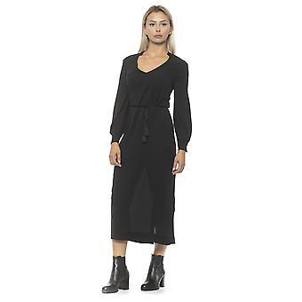 Nero Black Dress Scoop Neck, Tie waist