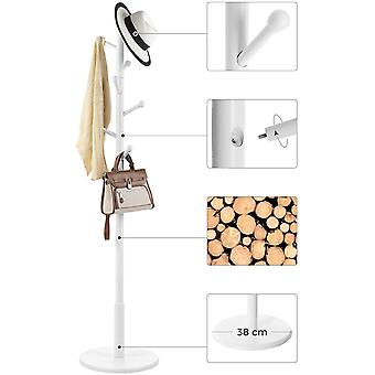 Gerui Coat Rack Free Standing Coat Tree with 7 Rounded Hooks, Wood Hall Tree, Entryway Coat Stand for