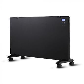 V-tac VT-2000WRD Calefacción de panel de vidrio - Calefacción eléctrica - 2000W - Negro - Incl pantalla