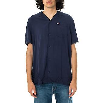 Chemise homme tommy jeans tjm chemise de camp solide dm0dm10645.c87