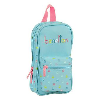 Backpack Pencil Case Benetton Candy Light Blue