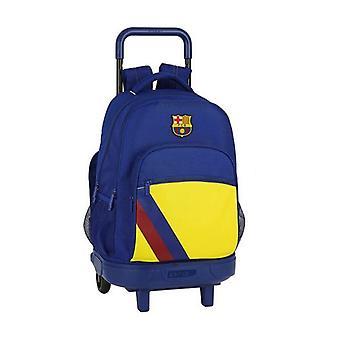 School Reppu pyörillä Kompakti F.C. Barcelona Sininen