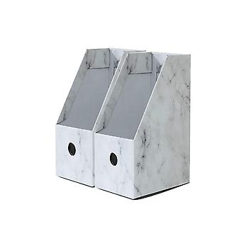 Foldaway File Holder Marble Newspaper Box DeskIn huippujärjestäjä