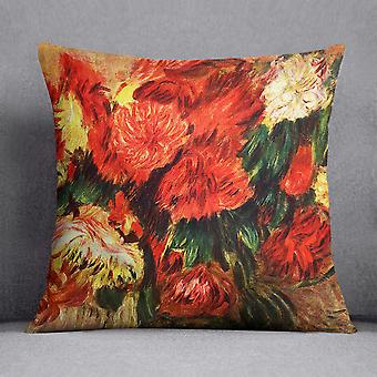 Stillleben mit Chrysanthemen von Renoir Kissen