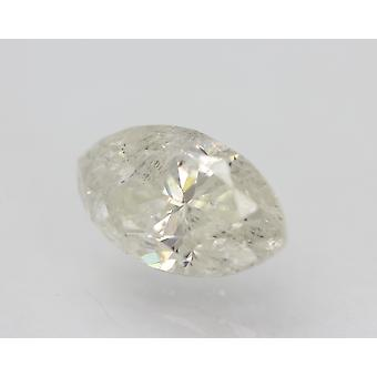 Certified 1.26 Carat G Color SI3 Marquise Natural Loose Diamond 9.07x5.22mm 2VG