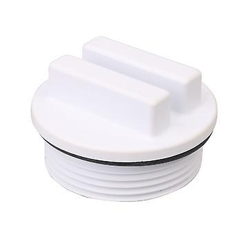 1.5 Inch Return Pipe Threaded Swimming Pool Plug with O Ring Plug White