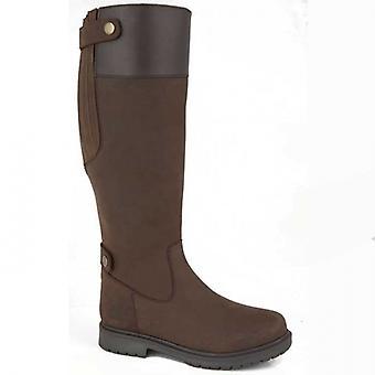 Woodland Harper Ladies Leather Tall Boots Dark Brown