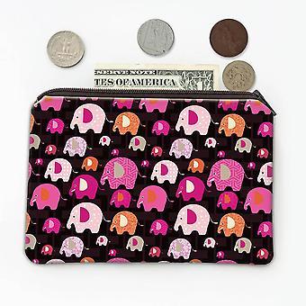 ギフトコイン財布:パターン象の赤ちゃん
