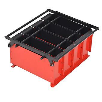 vidaXL acier à briquettes en papier 38 x 31 x 18 cm noir et rouge