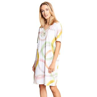 Féraud Couture 3211035-16371 Women's White Multicoloured Cotton Nightdress