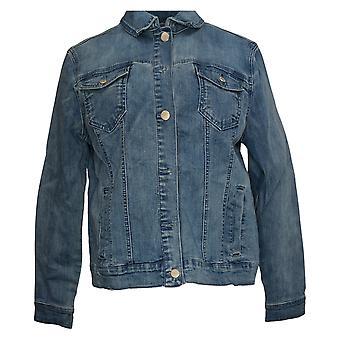 Isaac Mizrahi Live! Women's True Denim Classic Jean Jacket Blue A377209